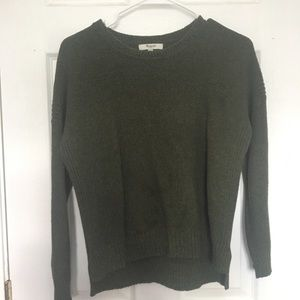 Olive green madewell sweater
